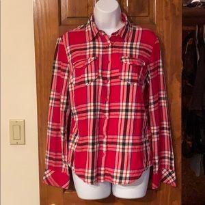Women's Aeropostale Long Sleeve Plaid Shirt